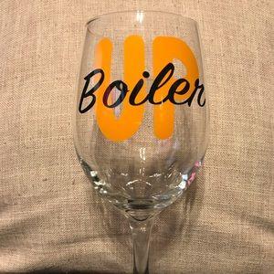 Boiler Up Purdue Wine Glass